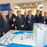 Official ceremony at the Bovanenkovskoye field third gas production facility